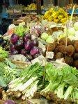 Etal de légumes sur un marché de Palerme